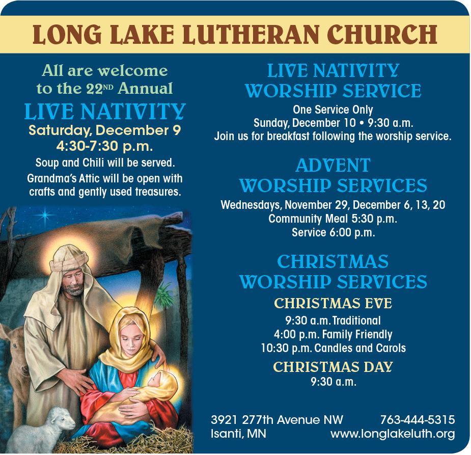 Live Nativity at Long Lake Lutheran Church